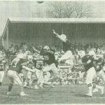 1987, premier match à Thonon de l'histoire, Marc COMBAZ, prend ici son envol (au centre de la photo)